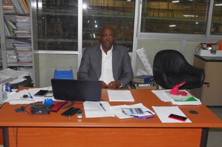 Adekoya, behind his desk within Boulos Enterprises' active and busy R&D Department (Photos: by ROTIMI ASHER, Motoring World Intl.)