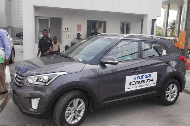ARRIVAL: Owoeye back at Victoria Island showroom of Hyundai Nigeria, after test-drive
